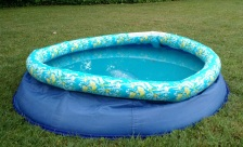 Figure 1 - A vinyl kiddie pool shortly after its first phase of life.